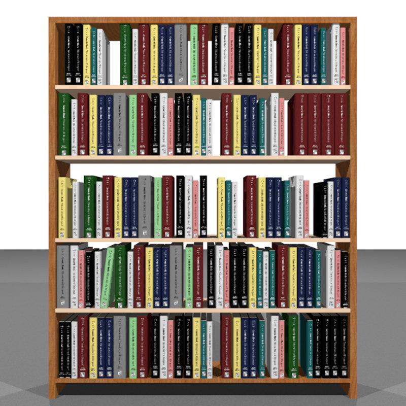 Bookshelf with books home design