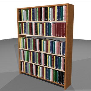 3d book bookshelf shelf