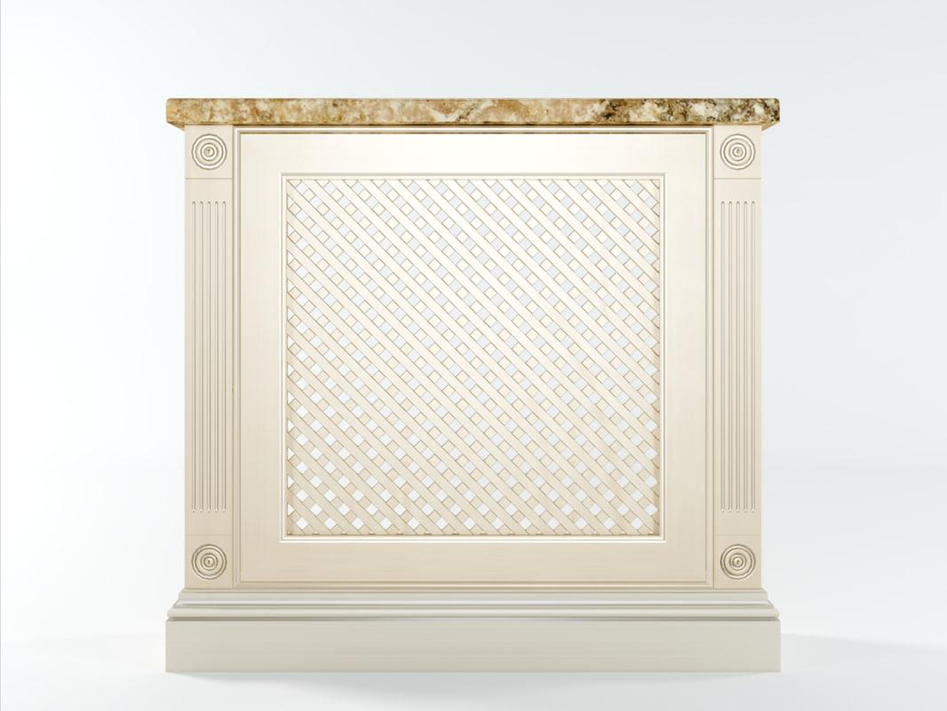grilles radiator cover classic 3d obj