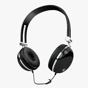 retro headphones 3d model