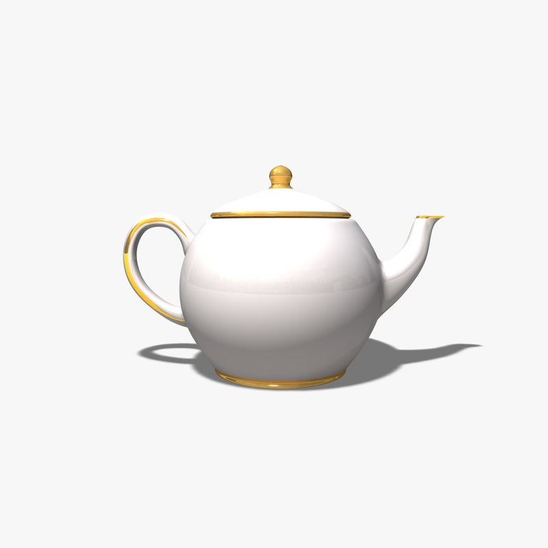 tea pot teapot 3d c4d