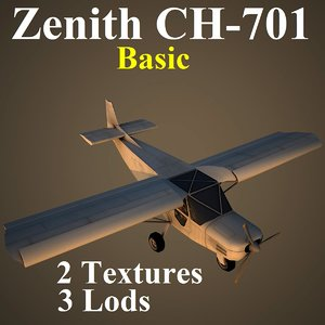 zenith basic aircraft 3d model