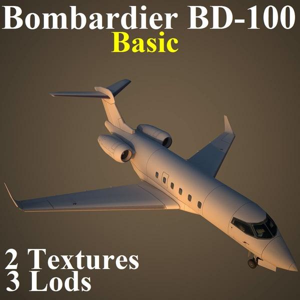 bombardier basic 3d model