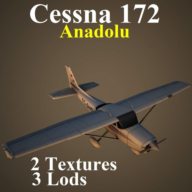 cessna 172 aircraft 3d x