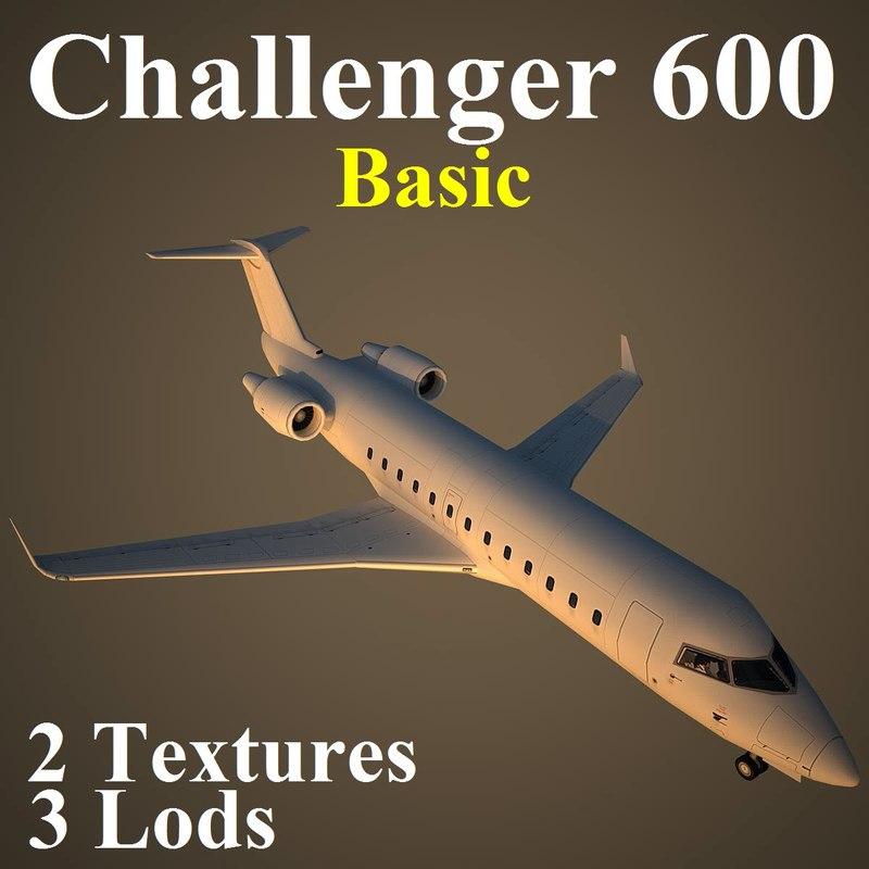 3d bombardier challenger basic model