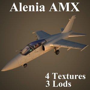 alenia amx 3d model