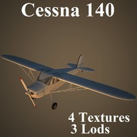 cessna 140 3d model