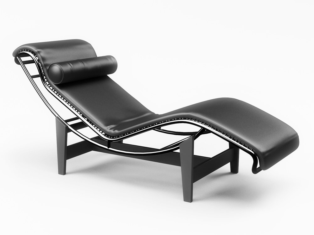 max chaise lounge le corbusier. Black Bedroom Furniture Sets. Home Design Ideas