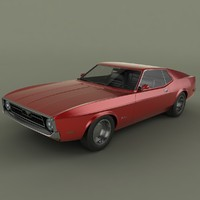 3d model mustang sportsroof 1971