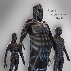 3d model alien characters