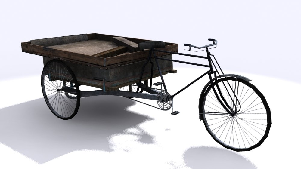 3d thela haath rickshaw