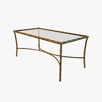 3d bronze bamboo coffee table
