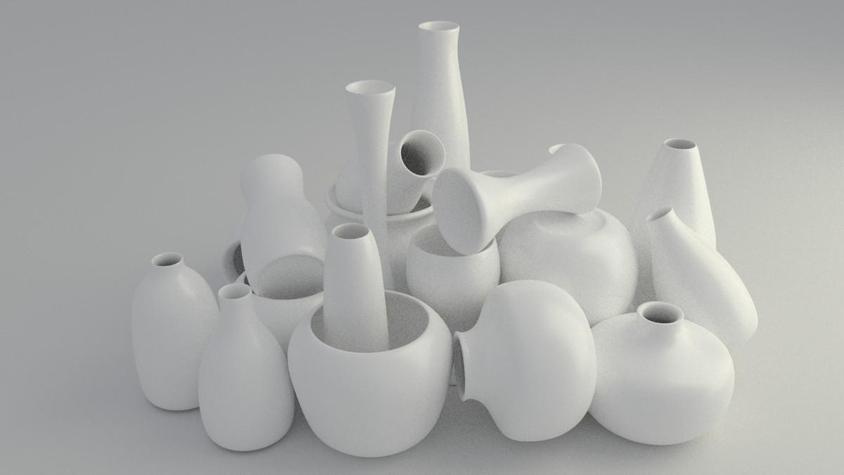 vases ancient modern 3d 3ds