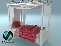 Poppy Single 4 Poster Bed
