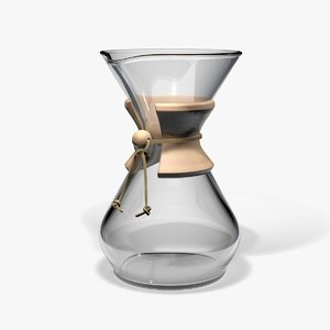 3d model chemex coffee maker