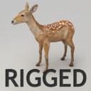Rigged lowpoly dappled deer