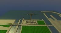 bulk carrier harbour 3d blend