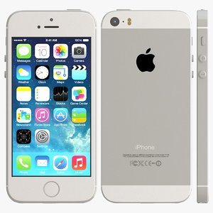 3d model iphone 5s silver