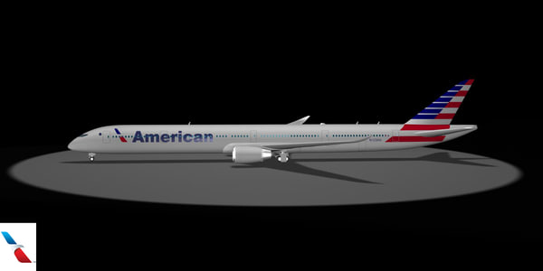 3d american airlines 787-10x dreamliner model