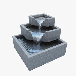 3ds max small fountain