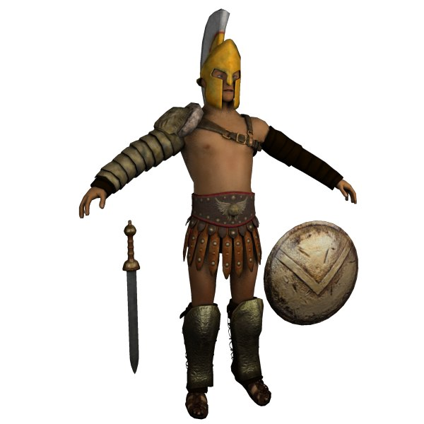 roman gladiator armor - 3d model