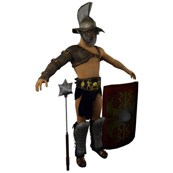 3d model roman gladiator armor -