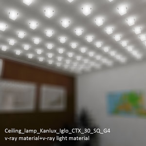 ceiling lamp kanlux iglo 3d 3ds
