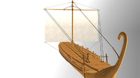 3d greek ship