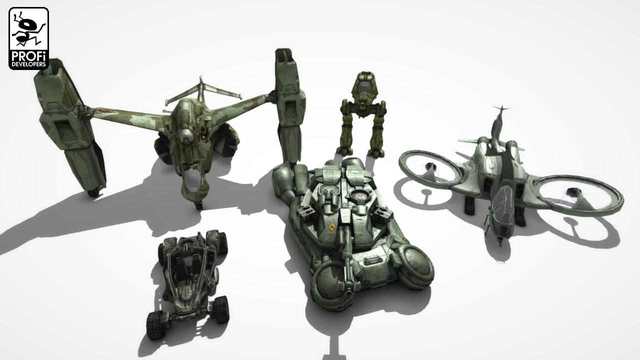 3ds max sci-fi vehicles tank