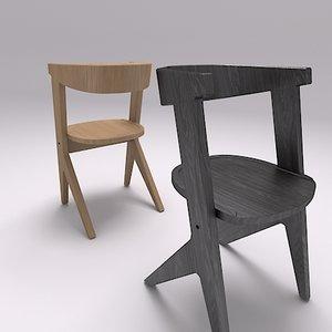tom dixon slab chair 3d model