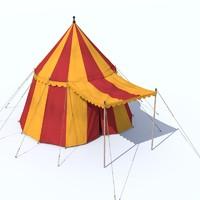 medieval tent 3d model