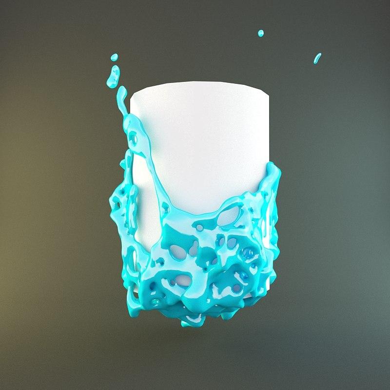 paint water 3d model