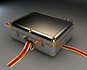 3d case diplomat suitcase