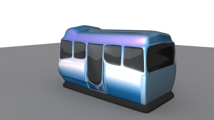 futuristic bus 3d model