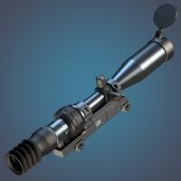 3-10x 1p69 sniper rifle 3d model