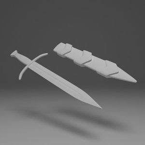 medieval dagger 3d model