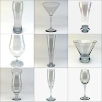 glass photorealistic wine 3d c4d