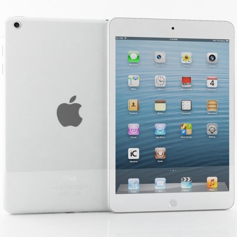 max apple ipad mini white