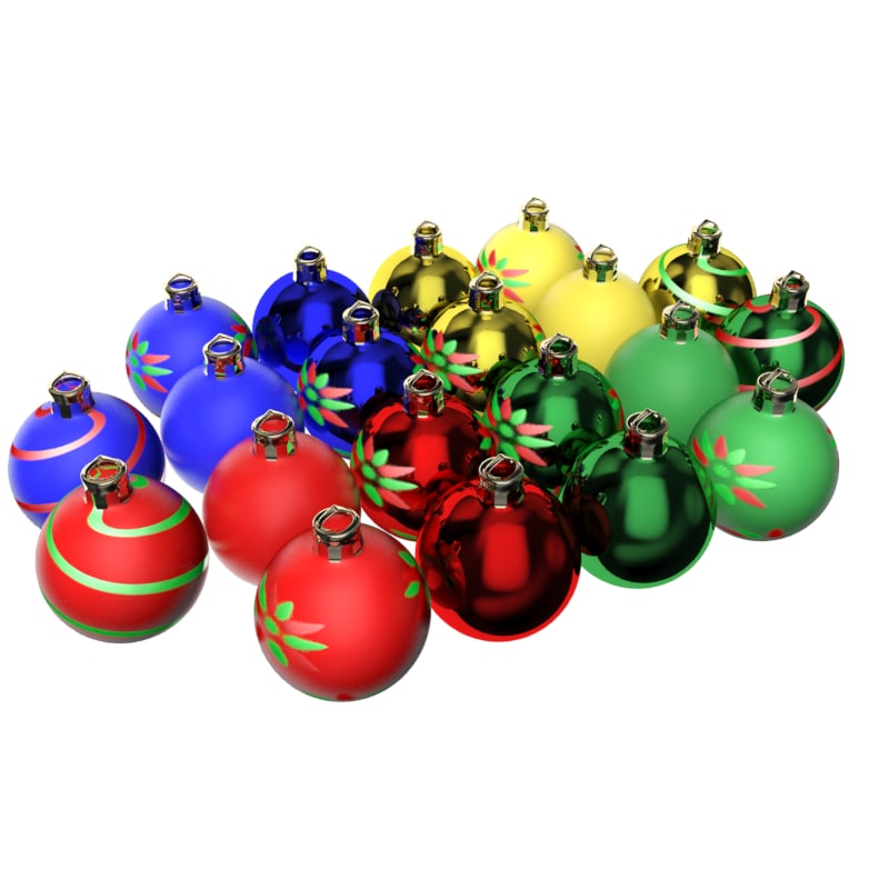 max customizable christmas balls