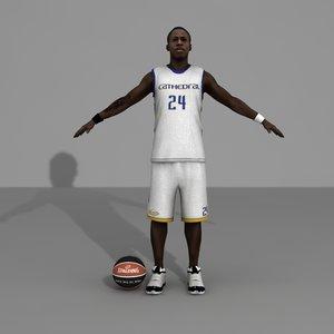 3d custom basketball player model