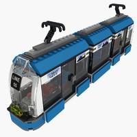 3ds max tram lego