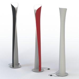 floor lamp artemide 3ds