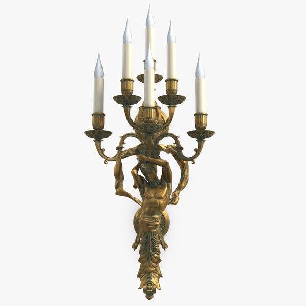 wall candlestick bra 4 3d max