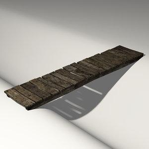 blender old wooden bridge wood