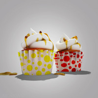 3d model cakes cup