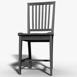 subdivision chair 3d max