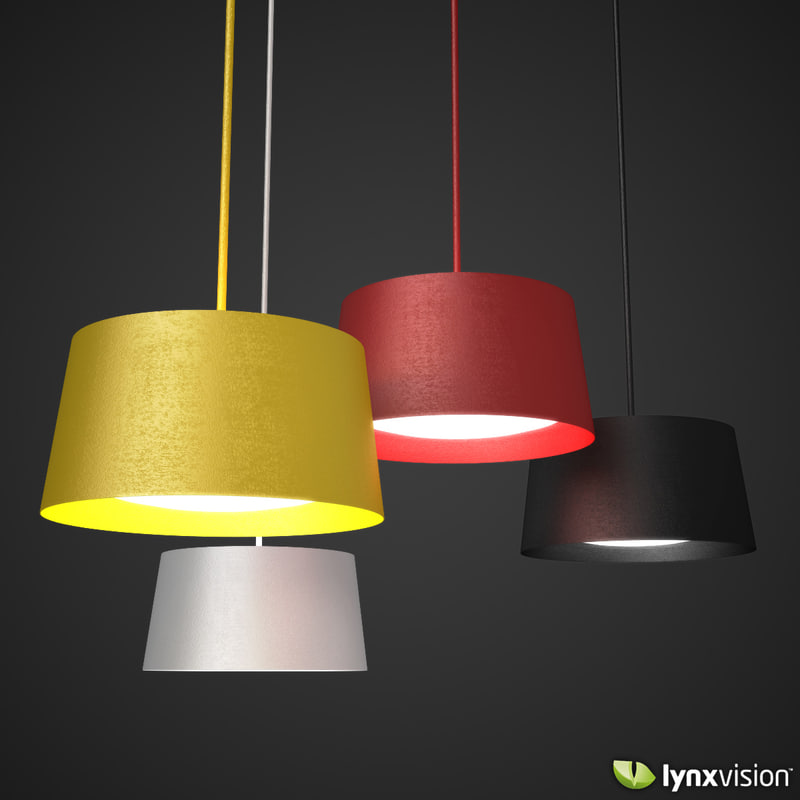Twiggy Grande Pendant Lamp 3d Model