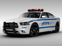 dodge charger car 3d 3ds