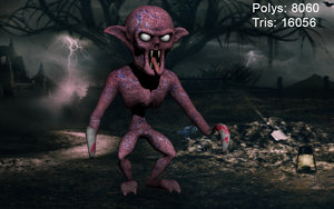 ghoul zombie 3d ma