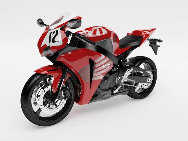 bike cbr 1000 rr 3d model